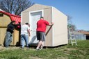 Barton LCMHF carpentry students build shed for Great Bend daycare