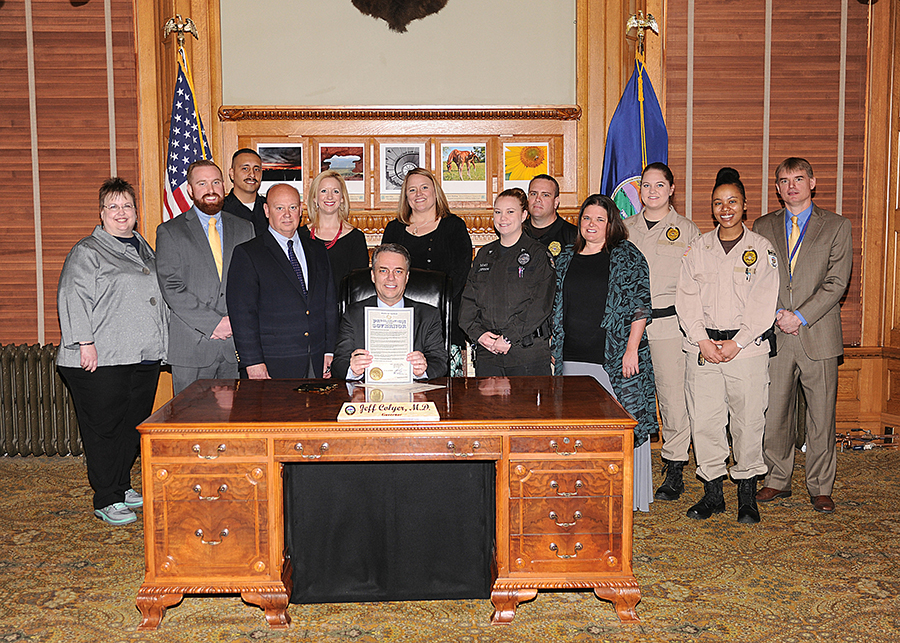 Governor Colyer proclaims Kansas Correctional Officer's and Employee's Week